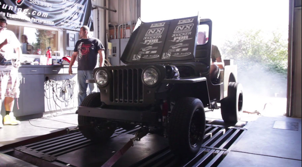 1952 Willys Jeep with supercharged and nitrous 4.8L Vortec V8