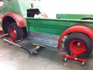 Making a custom truck bed for a 1953 White Cabover