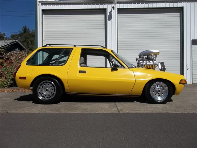 1977 AMC Pacer with supercharged Oldsmobile 455 ci V8