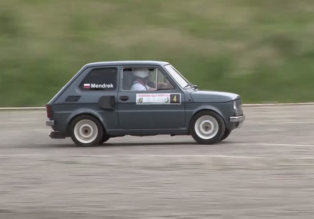 Fiat 126p with a Honda CBR900 RR motorcycle engine