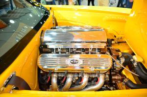 850 horsepower LSx V8 inside 1964 Buick Riviera Rivision engine bay