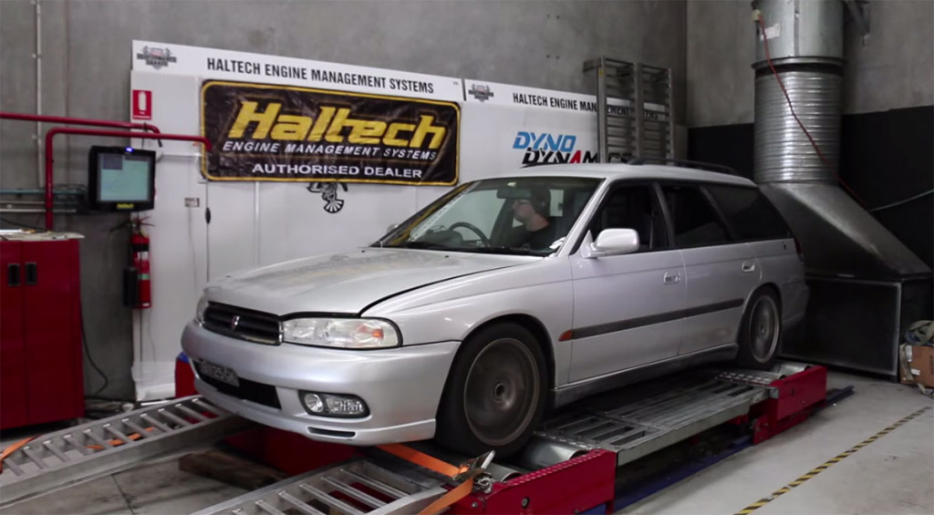 Might Car Mods Project Gramps - A 1995 Subaru Liberty with a turbocharged EZ36 engine swap