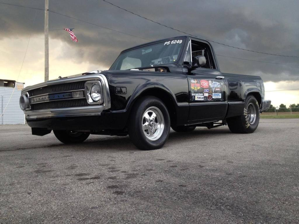 1969 Chevy C10 truck with triple turbo Duramax