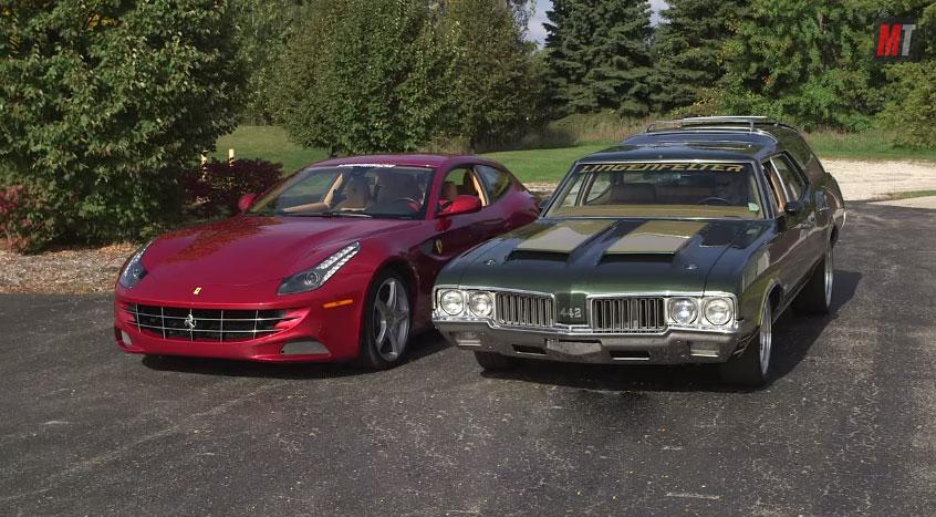 1970 Oldsmobile Vista Cruiser Versus 2012 Ferrari FF