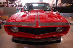 Mark Stielow's 1959 Camaro with a supercharged 427 cubic-inch LSx V8