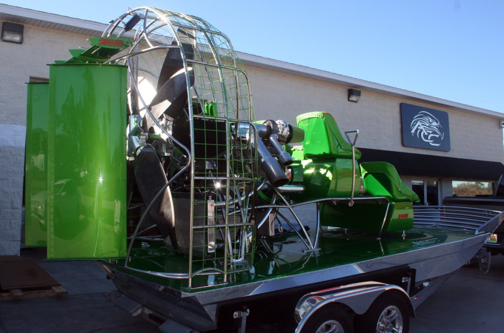 Air Boat with Nelson Racing built twin-turbo big-block Chevy V8