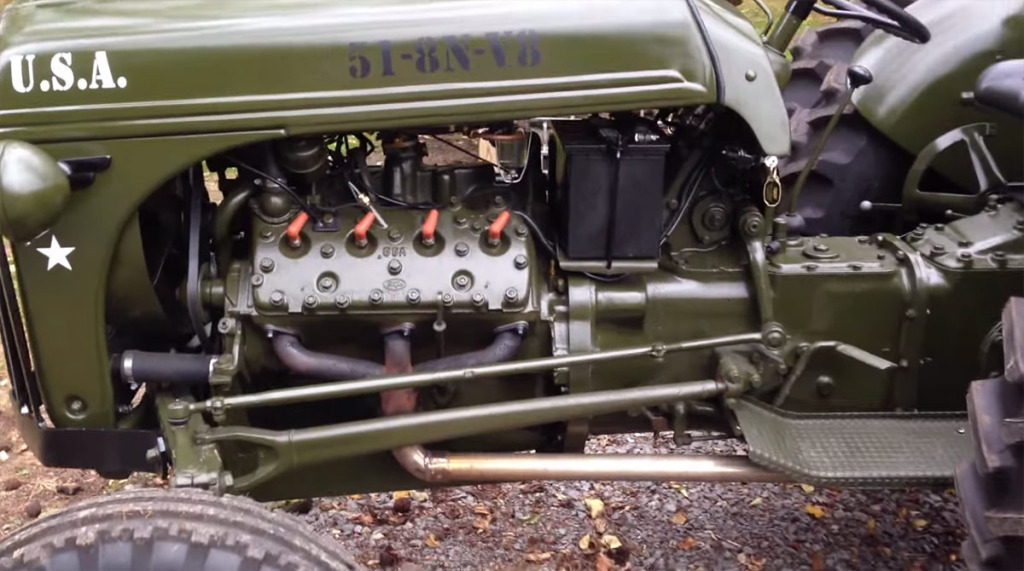1951 Ford Tractor With A Flathead V8 Engine Swap Depot