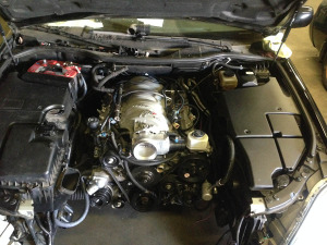 LS3 V8 inside Lexus LS430 engine bay