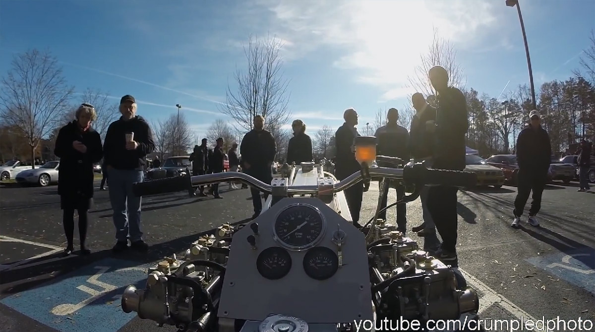 Motorcycle With A Lamborghini V12 04 Engine Swap Depot