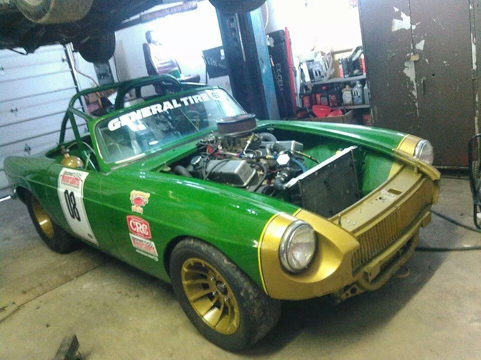 Razorback Racing MGB with a 408 ci Chevy V8 04 – Engine Swap Depot