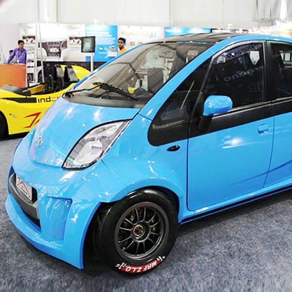 Tata Nano with a 1.3 L motorcycle inline-four