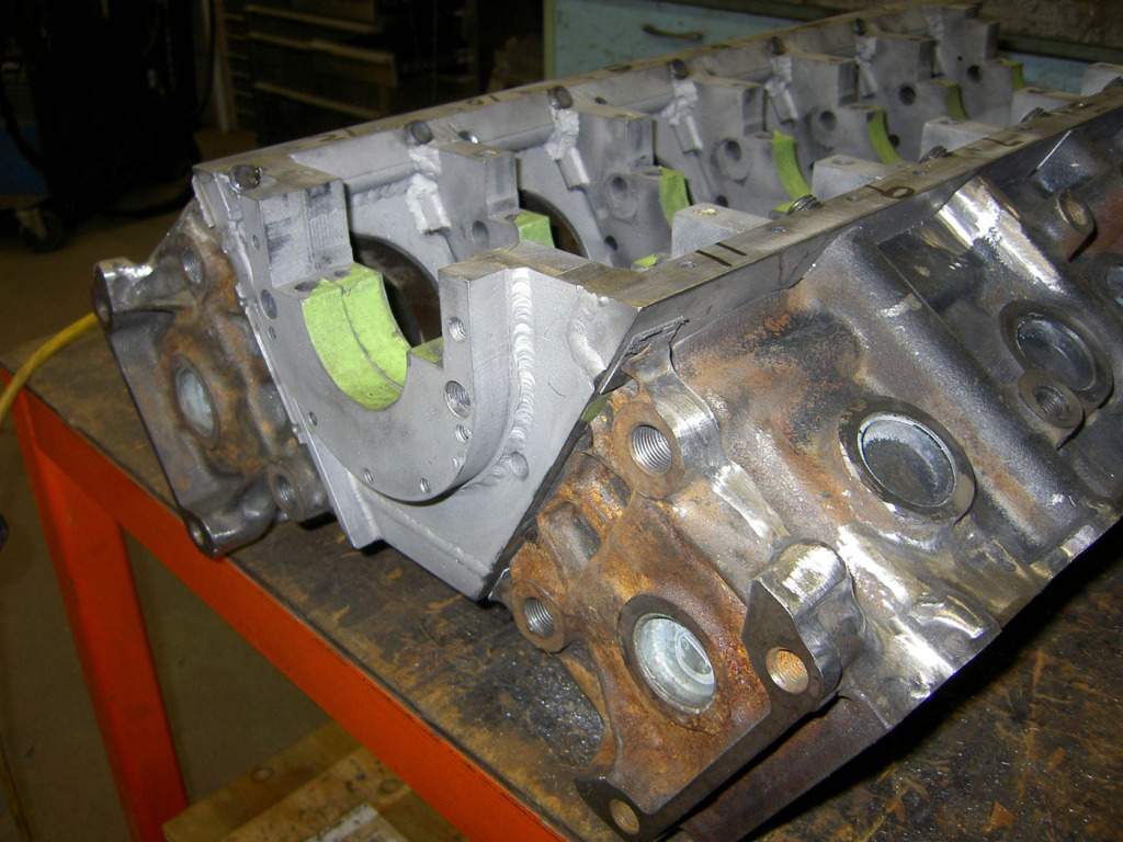 custom crankcase for V12 made from two 1JZ engines