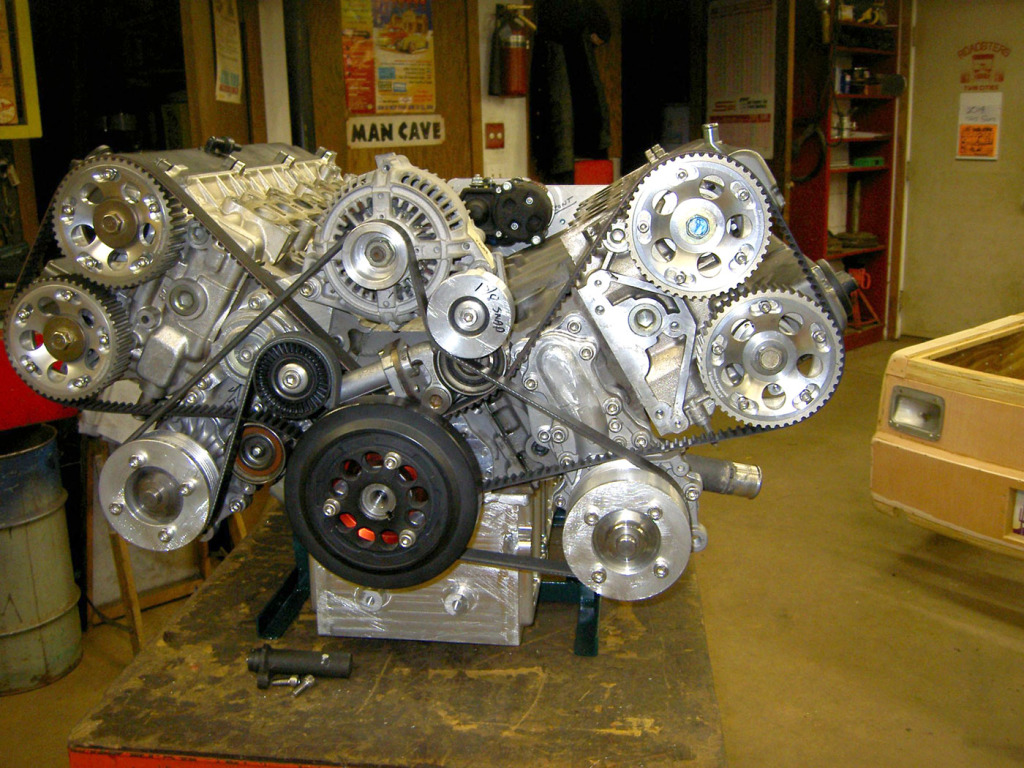 V12 engine being made from two Toyota 1JZ inline-six engines