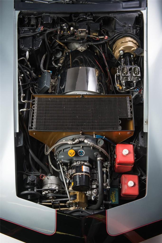 Pratt & Whitney ST6B turboshaft turbine inside the engine bay of a 1978 Corvette