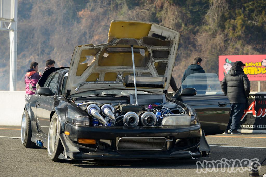 Caroline Racing Quad-turbo 2JZ Powered Nissan S14