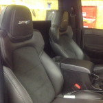 Corvette ZR1 seats inside Chevy Colorado
