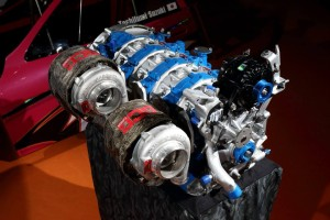 Twin-turbo 26B four-rotor engine going into Mad Mike's HUMBUL RX-7