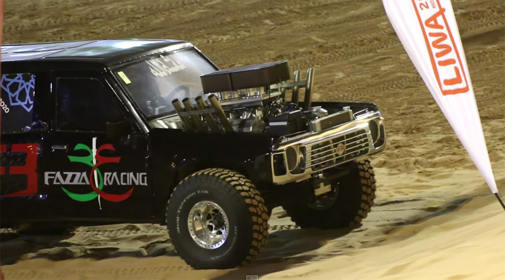 V8 powered hill climber truck from UAE