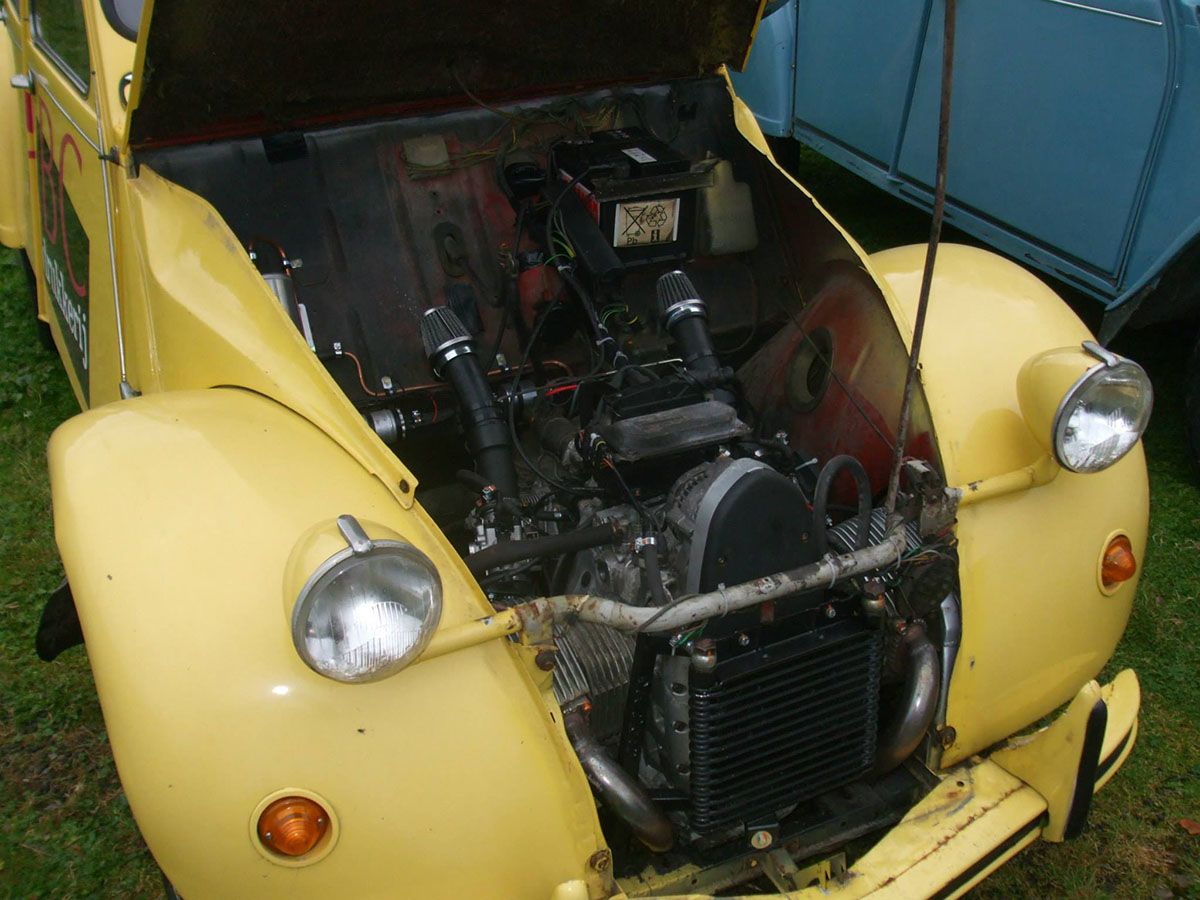 Citroen 2cv With Bmw 1100 Motorcycle Engine 05  U2013 Engine Swap Depot