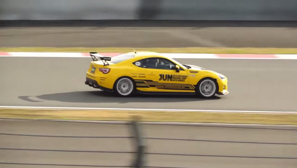 JUN Subaru BRZ With A Synergy V8 at the track