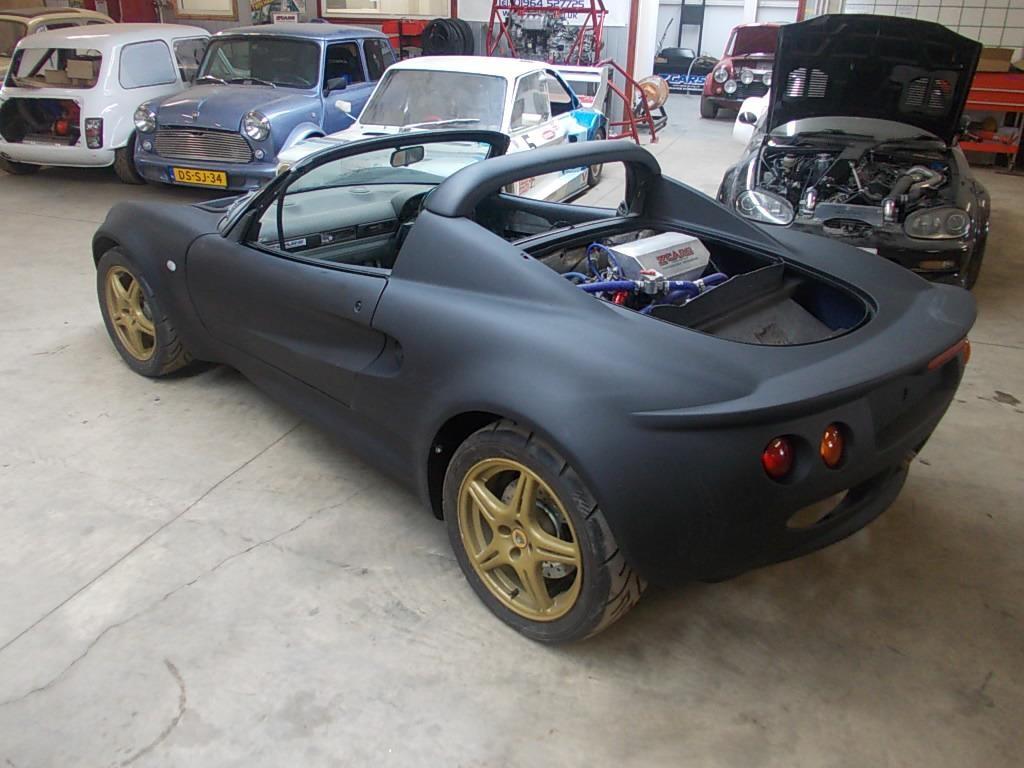 Lotus Elise With A Turbo Hayabusa Motor Engineswapdepot Com