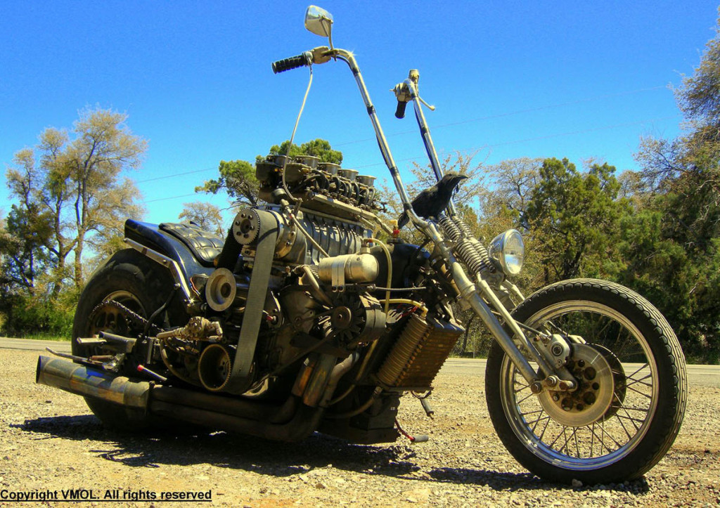 Tom Novak V8 Powered Motorcycles