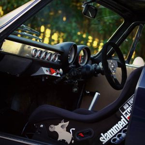 interior of a Alfa Romeo 105 with a turbocharged Nissan SR20