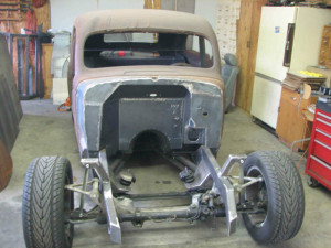 custom chassis for 1936 Nash Lafayette with Toyota Supra suspension