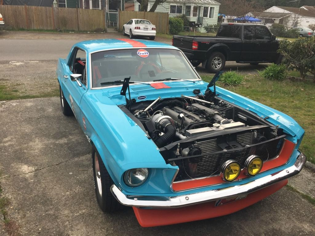 1968 mustang with a 2jz inline