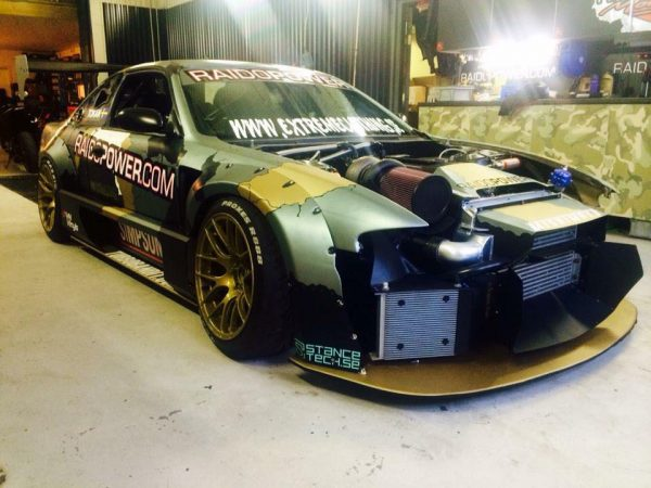 Nissan S14 with a Mercedes M104 inline-six