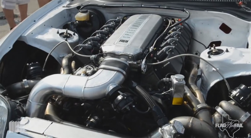 Toyota Supra with turbo Viper V10