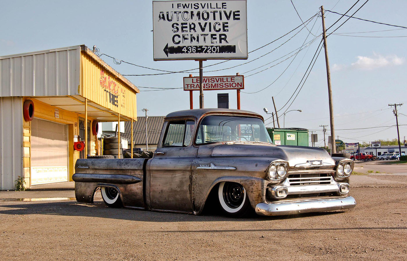 1958 chevy truck with a twin