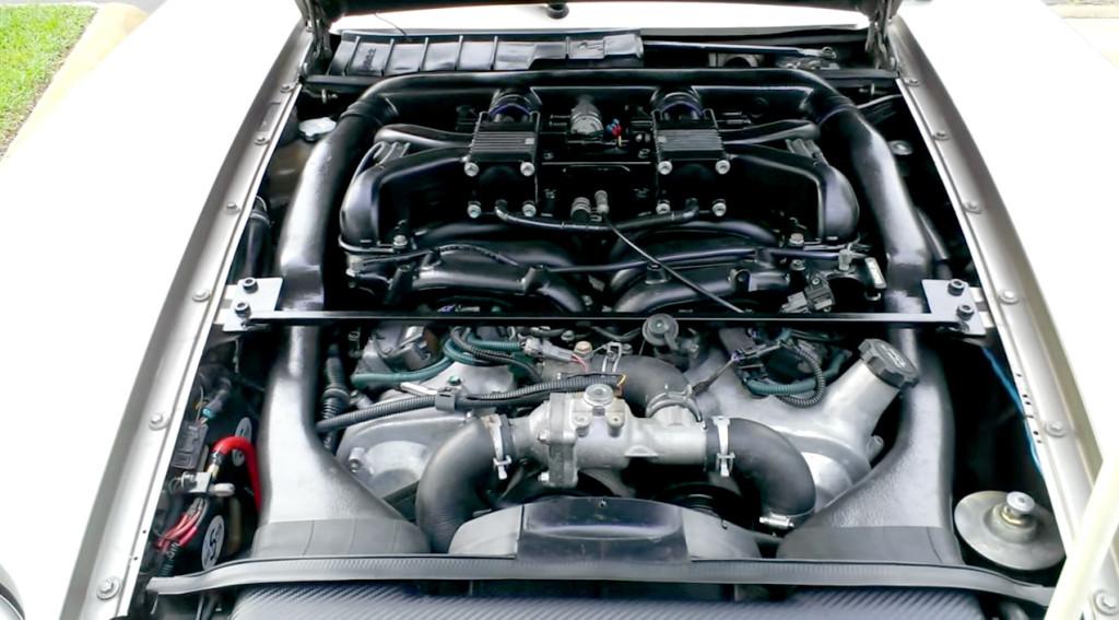 Toyota 1GZ-FE V12 inside 1982 Porsche 928 engine bay
