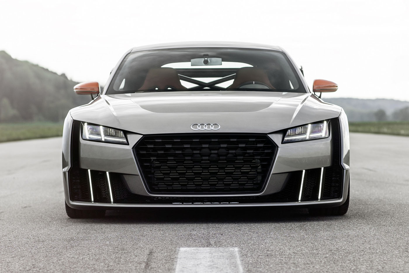 audi tt clubsport concept has a 2 5 tfsi inline five. Black Bedroom Furniture Sets. Home Design Ideas
