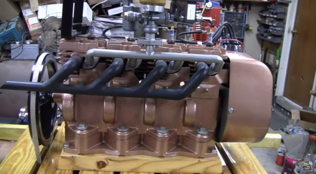 Inline-four Made From Four Briggs & Stratton 6S Engines