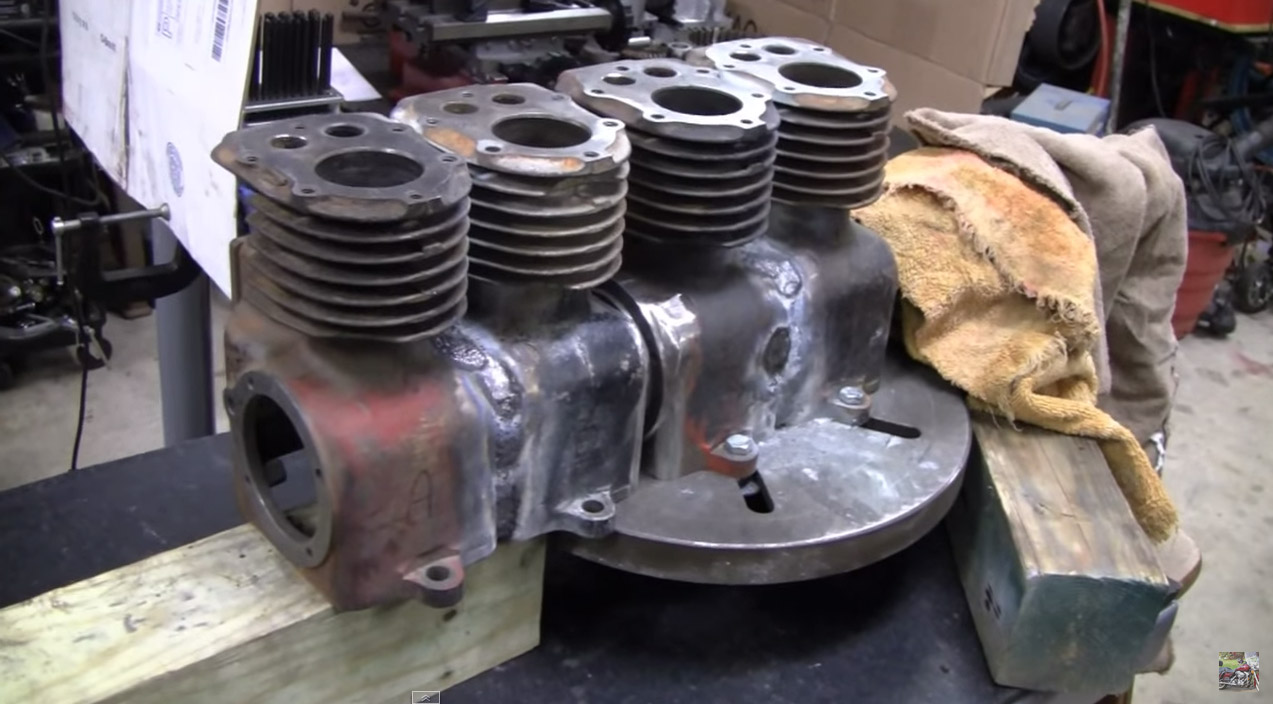 Inline Four Made From Four Briggs Stratton Engines