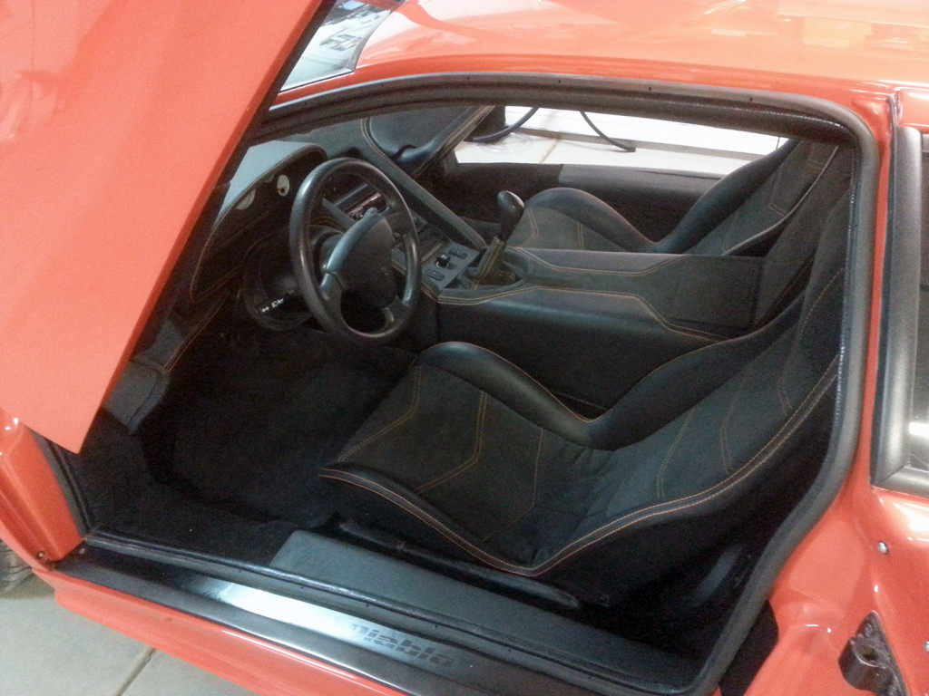 Interior of Lamborghini Diablo