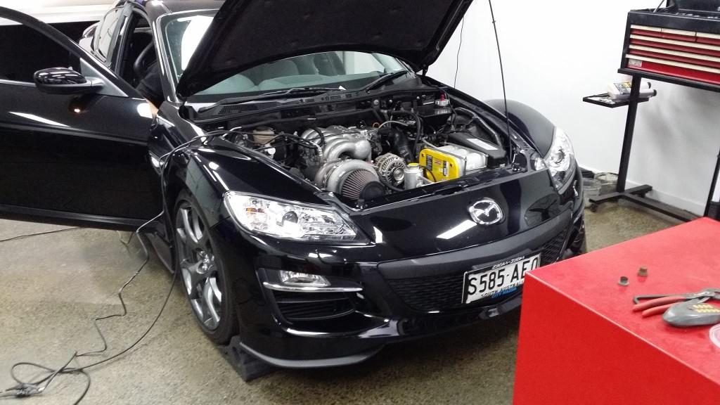 Mazda RX-8 With Turbocharged 20B Rotary