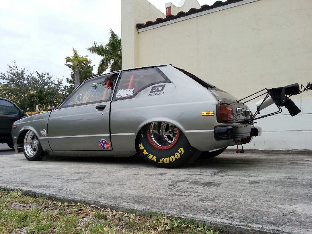 Toyota Starlet With A Horsepower S Gte on Drag Race Car Wiring