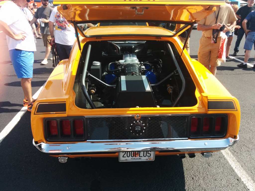 1970 Ford Mustang with mid-engine Ford GT 5.4 L supercharged V8