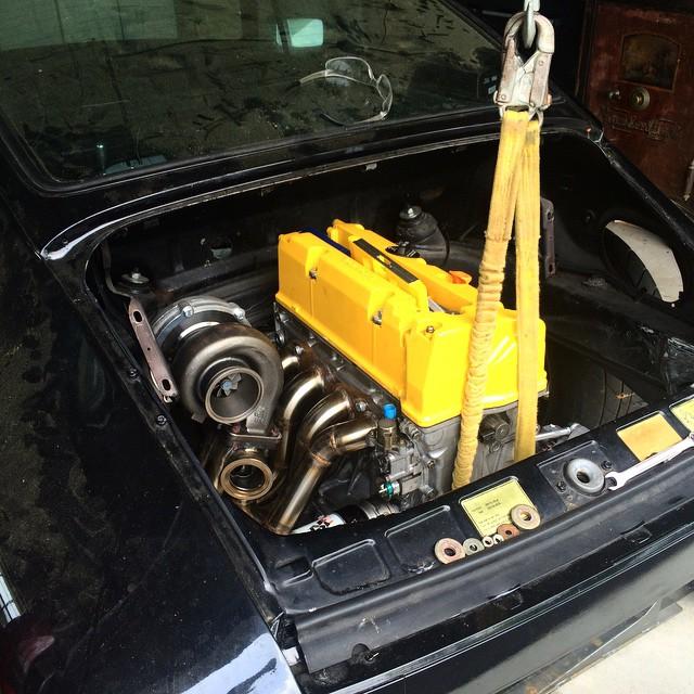 Hoonigan Porsche 911 With Turbocharged Honda K Series Engine