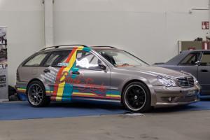 Black Smoke Racing Mercedes W203 drift wagon with OM648 diesel I6