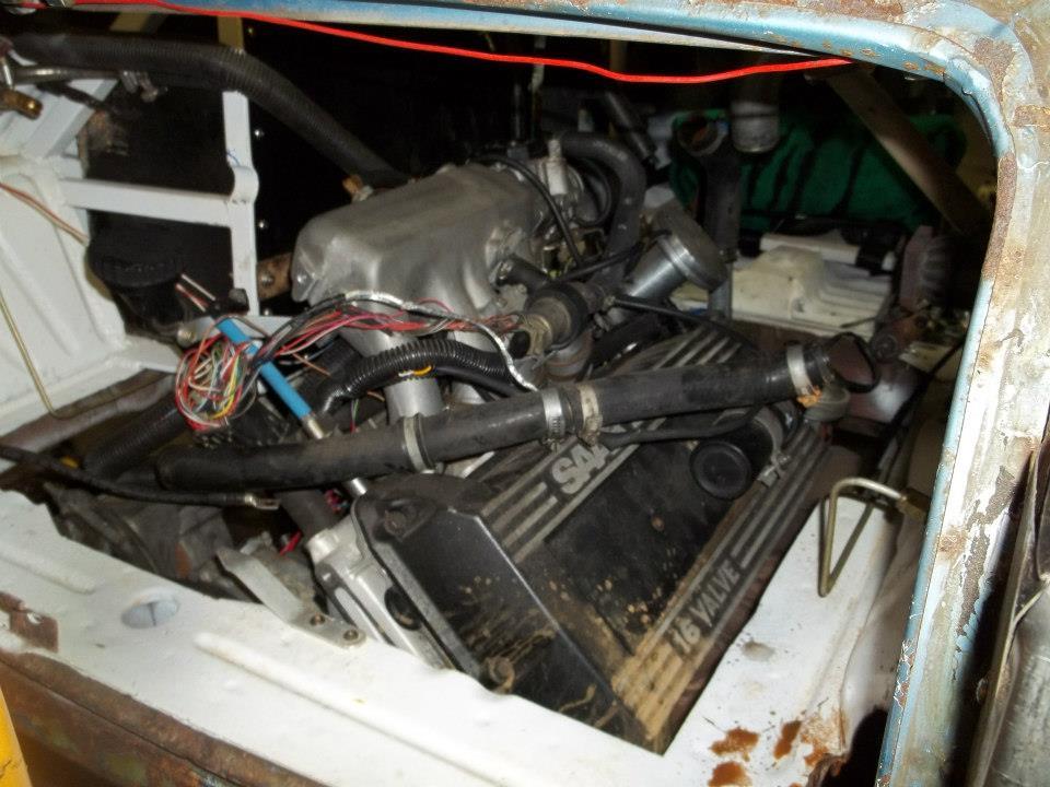 Honda N600 with turbocharged 2.3 L Saab B234 inline-four