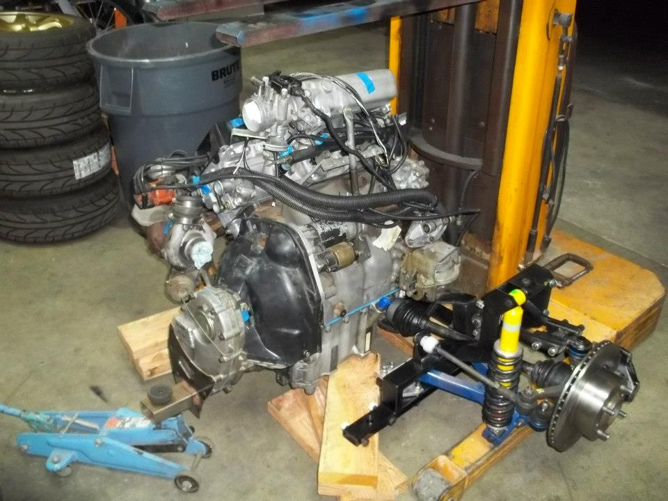 Saab 900 complete powertrain going into Honda N600
