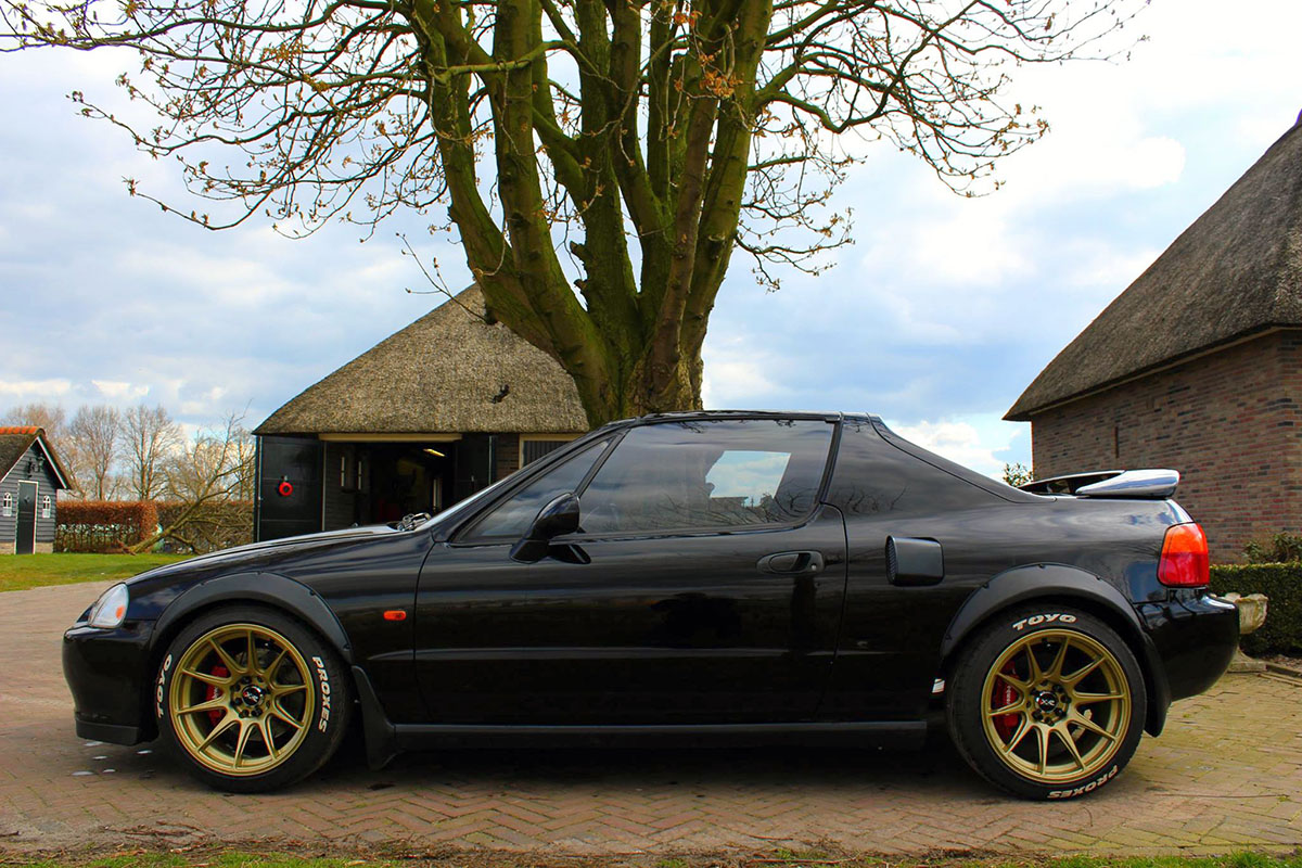 Honda Civic Del Sol With A Mid Engine Turbo B16 Engine