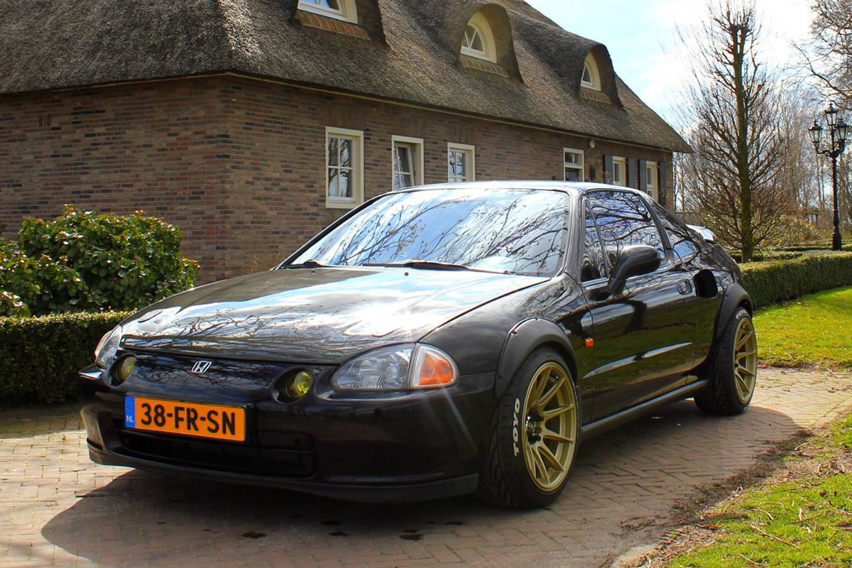 Honda Civic Del Sol With A Mid Engine Turbo B16 Engine Swap Depot