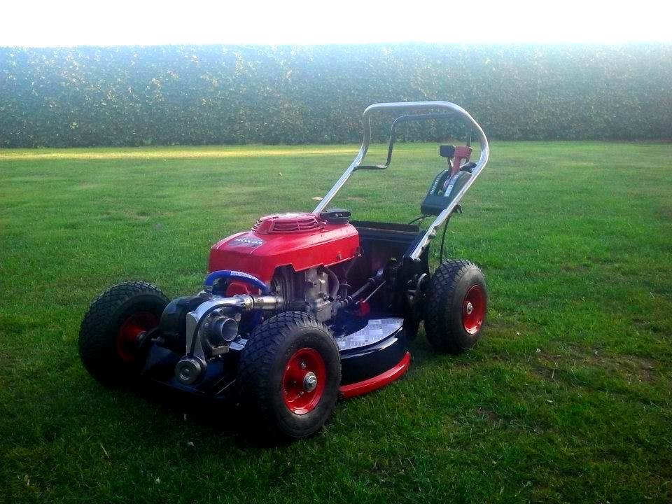 Honda GXV120 Lawnmower With Garrett Turbo And Large Wheels