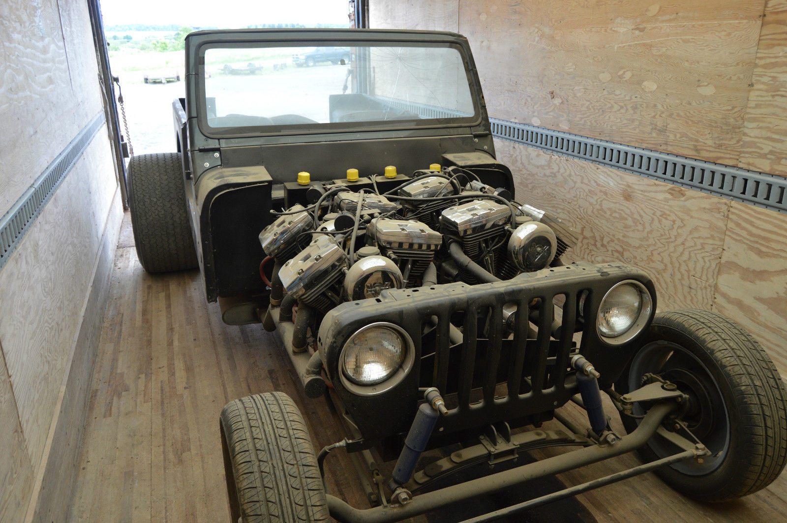 For Sale Jeep With Four Harley Motorcycle Engines