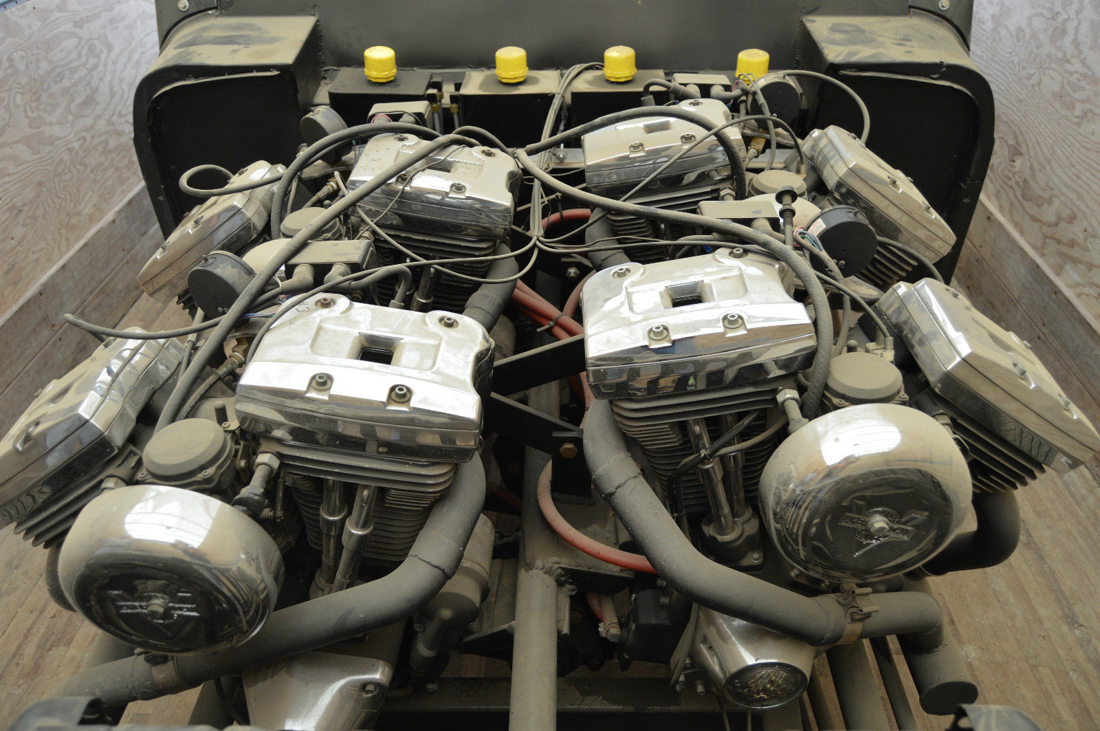 For Sale: Jeep With Four Harley Motorcycle Engines – Engine