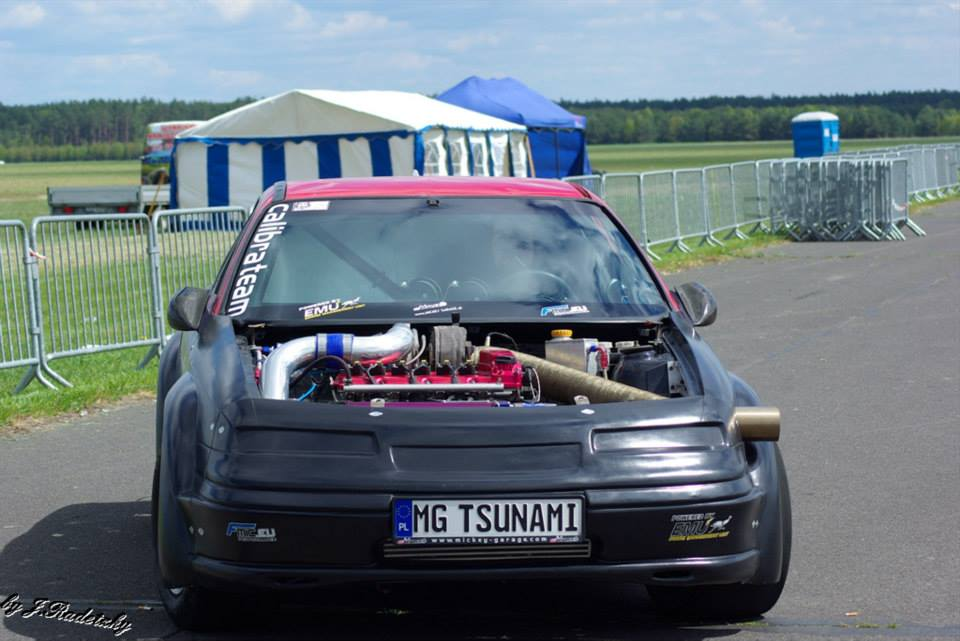 Opel Calibra Tsunami with 1400 HP Twin VR6 engines
